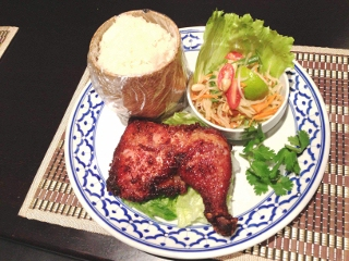 gai yang set bbq chicken leg 香茅 烤鸡 腿 grilled chicken leg ...